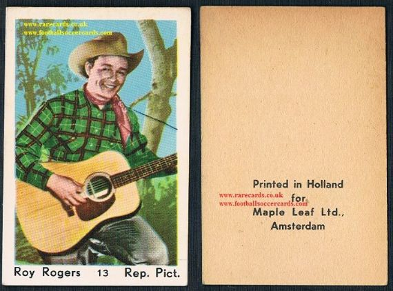 1950s Maple Leaf gum card Roy Rogers